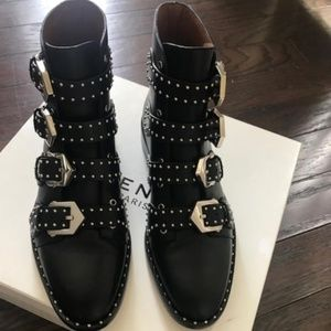 Authentic Givenchy 4 buckle boots